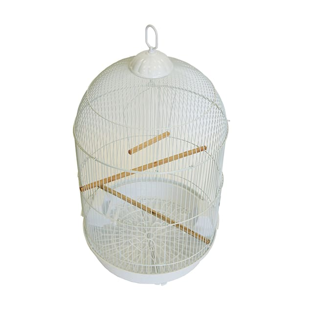 YML Round White Bird Cage, Small - Carousel image #1