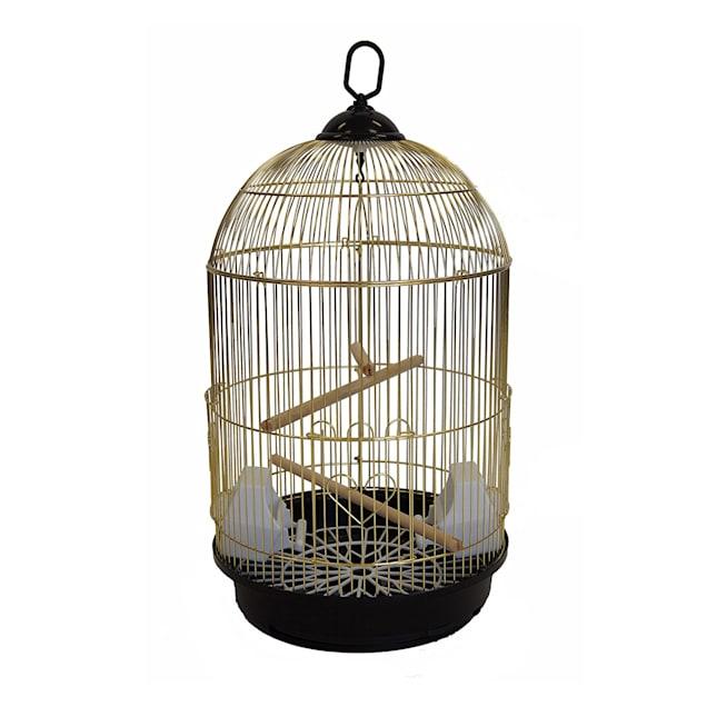 YML Round Brass Bird Cage, Small - Carousel image #1