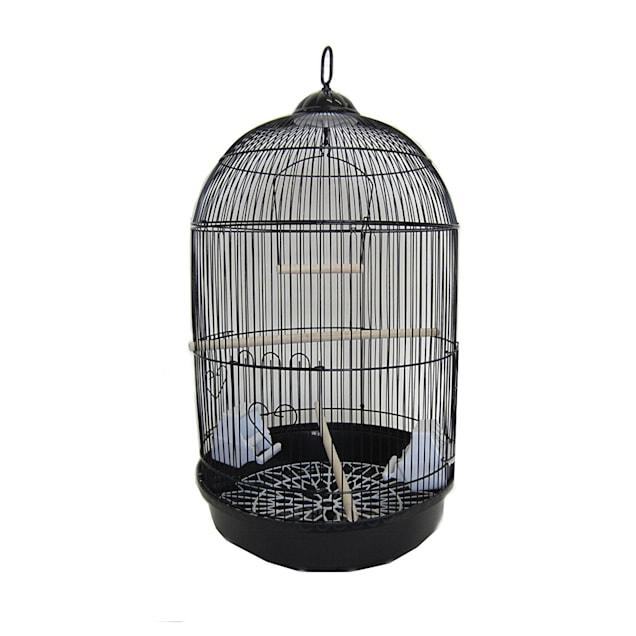 YML Round Black Bird Cage, Small - Carousel image #1