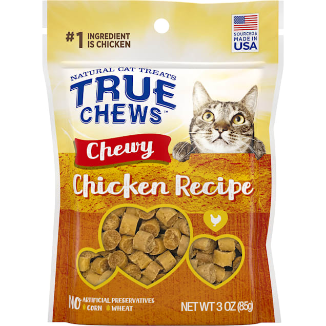True Chews Chewy Chicken Recipe Cat Treat, 3 oz. - Carousel image #1