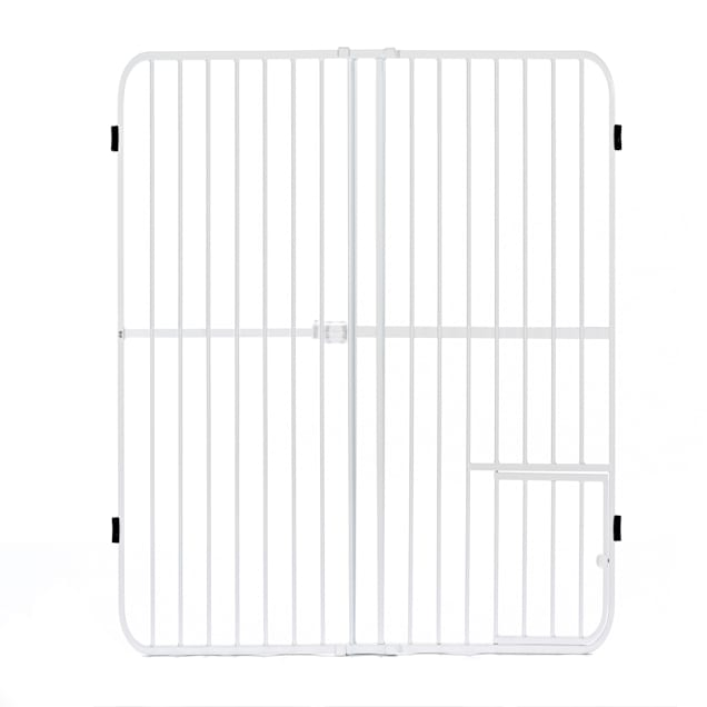 """Carlson Pet Products Big Tuffy Expandable Gate with Small Pet Door, 42"""" L X 2"""" W X 32"""" H - Carousel image #1"""