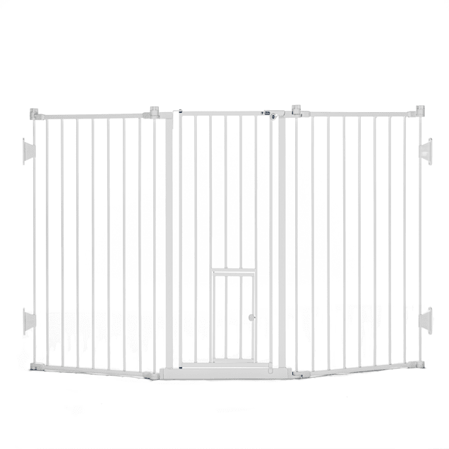 """Carlson Pet Products Flexi Gate with Pet Door, 76"""" L X 2"""" W X 30"""" H - Carousel image #1"""