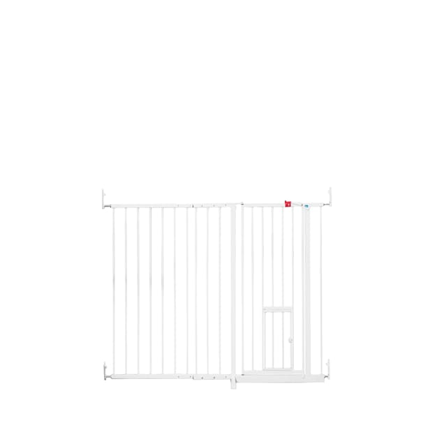"""Carlson Pet Products Extra Tall Maxi Gate with Pet Door, 59"""" L X 2"""" W X 38"""" H - Carousel image #1"""
