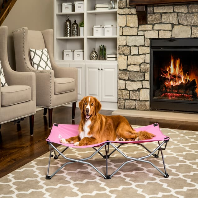 """Carlson Pet Products Pink Portable Pup Pet Bed, 48"""" L X 26"""" W X 9"""" H - Carousel image #1"""