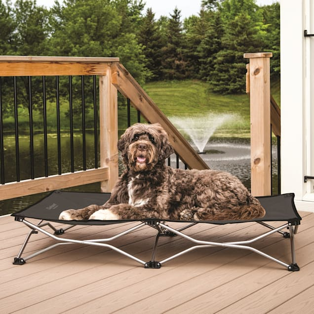 """Carlson Pet Products Gray Portable Pup Pet Bed, 48"""" L X 26"""" W X 9"""" H - Carousel image #1"""