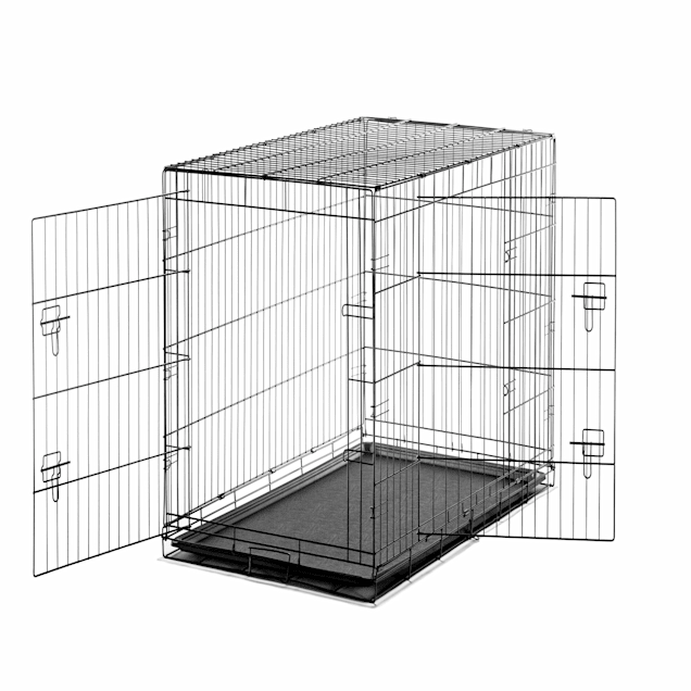 """Carlson Pet Products Extra large Two Door Wire Crate with Divider, 48"""" L X 30"""" W X 33"""" H - Carousel image #1"""