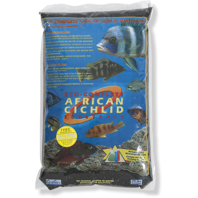 CaribSea Eco-Complete African Cichlid Zack Black Substrate, 20 lbs. - Carousel image #1