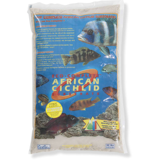 CaribSea Eco-Complete African Cichlid White Sand Substrate, 20 lbs. - Carousel image #1