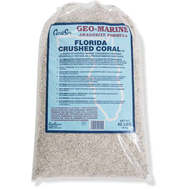 CaribSea Florida Crushed Coral Substrate, 40 lbs. - Carousel image #1