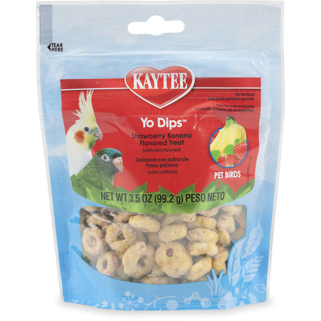 Kaytee Yo Dips Strawberry Banana Flavored Bird Treats, 3.5 oz. - Carousel image #1