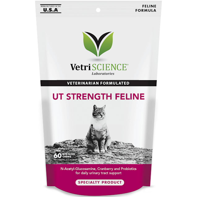 Vetri-Science Laboratories UT Strength Feline Formula Bite Size Chews for Cats, 60 Count - Carousel image #1