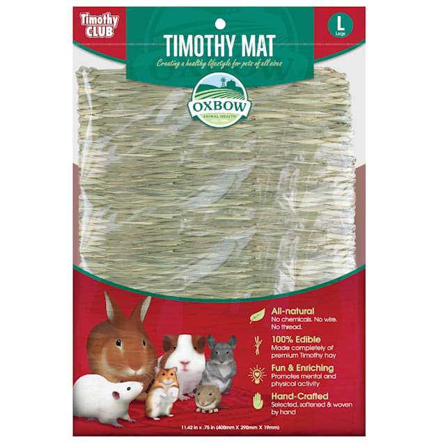 Oxbow Timothy Club Timothy Hay Mat for Small Animals, Large - Carousel image #1