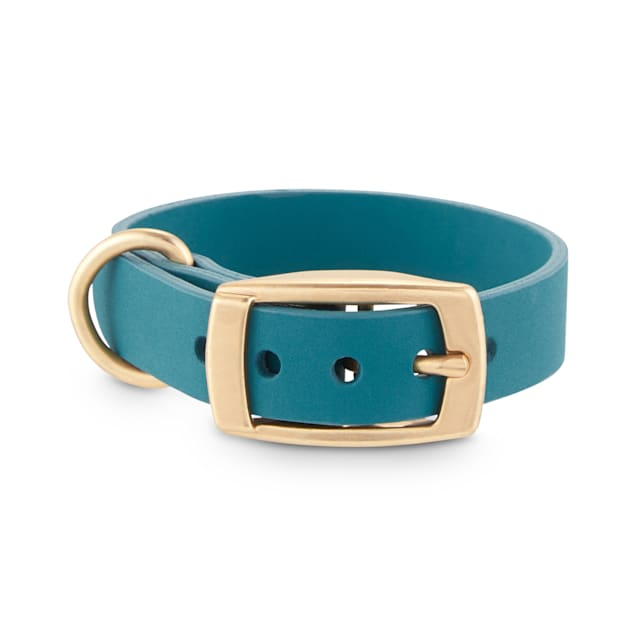 Bond & Co. Teal Pleather Dog Collar, XX-Small - Carousel image #1