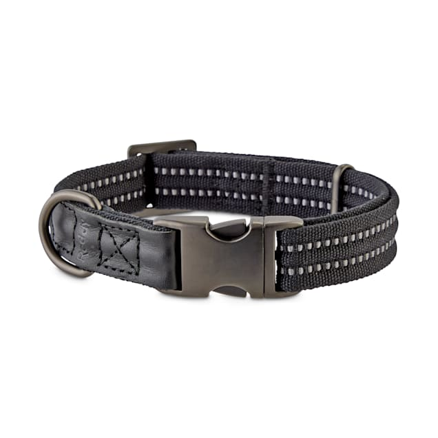 Reddy Black Webbed Nylon Dog Collar, X-Small/Small - Carousel image #1