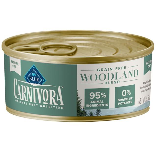 Blue Buffalo Blue Carnivora Woodland Blend Optimal Prey Nutrition Grain Free Mature Wet Cat Food, 5.5 oz., Case of 24 - Carousel image #1