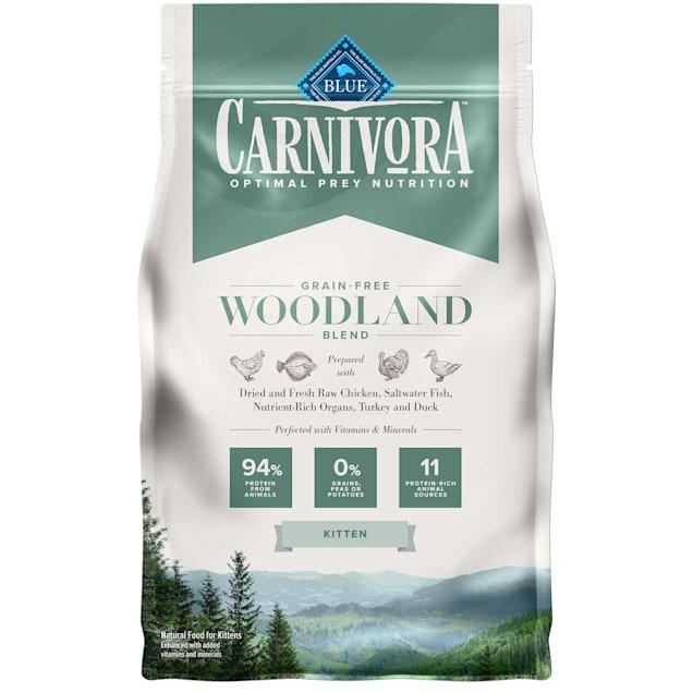 Blue Buffalo Blue Carnivora Woodland Blend Optimal Prey Nutrition High Protein, Grain Free Natural Kitten Dry Food, 4 lbs. - Carousel image #1