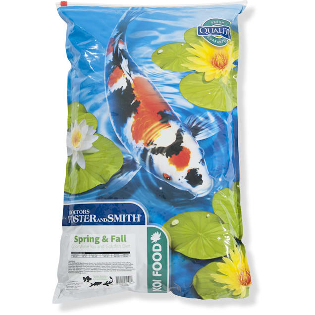 Drs. Foster and Smith Spring & Fall Coldwater Koi and Goldfish Food, 20 lbs. - Carousel image #1