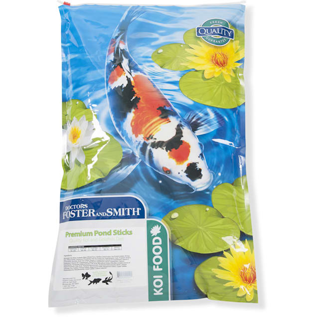 Drs. Foster and Smith Premium Pond Sticks Koi and Goldfish Food, 10 lbs. - Carousel image #1