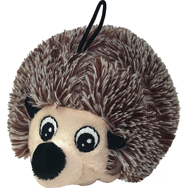 Petlou EZ Squeaky Hedgehog Ball Plush Dog Toy, Small - Carousel image #1