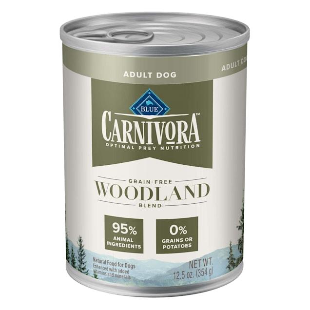 Blue Buffalo Blue Carnivora Woodland Blend Optimal Prey Nutrition Grain Free Adult Wet Dog Food, 12.5 oz., Case of 12 - Carousel image #1