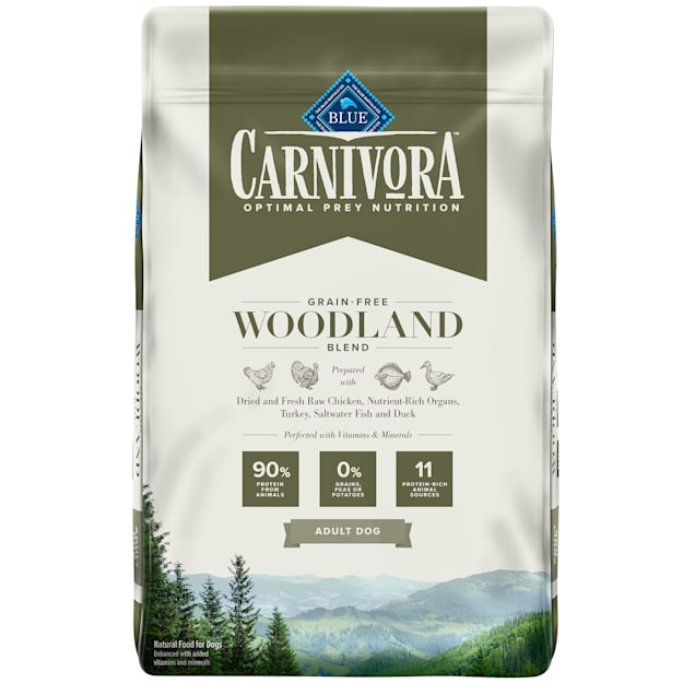 Blue Buffalo Blue Carnivora Woodland Blend Optimal Prey Nutrition High Protein, Grain Free Natural Adult Dry Dog Food, 22 lbs. - Carousel image #1