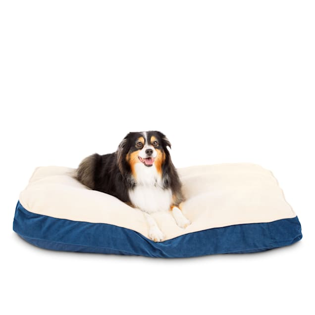 "Animaze Navy Lounger Dog Bed, 40"" L X 30"" W X 4"" H - Carousel image #1"