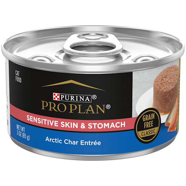 Purina Pro Plan Focus Sensitive Skin & Stomach Arctic Char Entree Wet Cat Food, 3 oz., Case of 24 - Carousel image #1