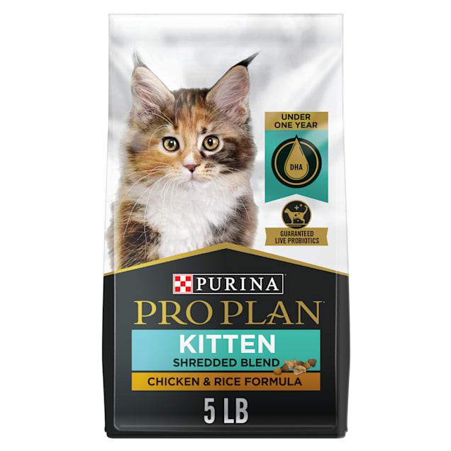 Purina Pro Plan Savor Shredded Blend Chicken & Rice Formula Probiotics Dry Kitten Food, 5 lbs. - Carousel image #1