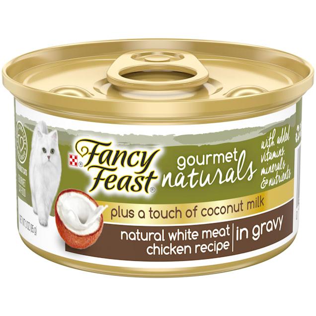 Fancy Feast Gourmet Naturals Plus Coconut Milk White Meat Chicken Recipe Gravy Wet Cat Food, 3 oz. - Carousel image #1