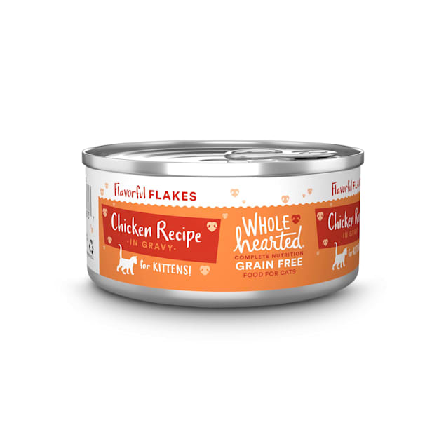 WholeHearted Grain-Free Chicken Recipe Flakes in Gravy Wet Kitten Food, 5.5 oz., Case of 12 - Carousel image #1