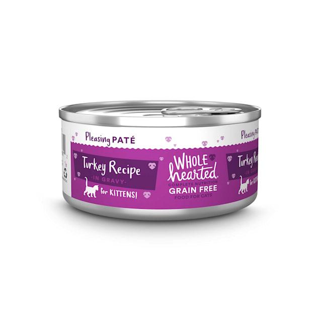 WholeHearted Grain-Free Turkey Recipe Pate Wet Kitten Food, 5.5 oz., Case of 12 - Carousel image #1