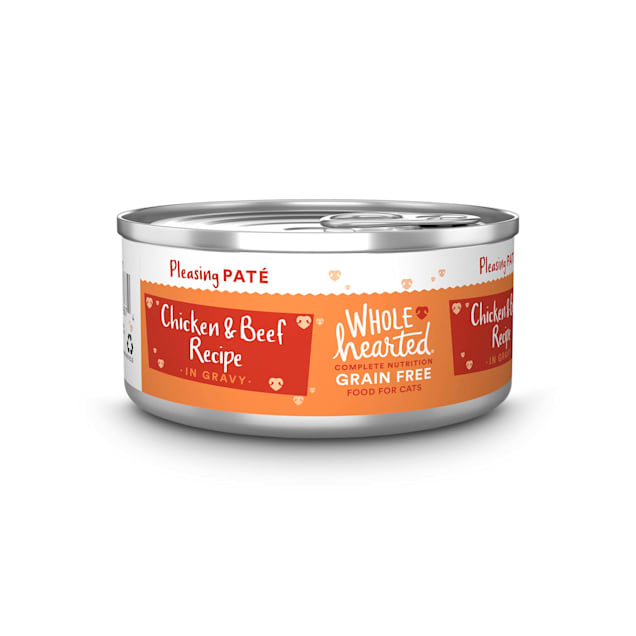 WholeHearted All Life Stages Grain-Free Chicken & Beef Recipe Pate Wet Cat Food, 5.5 oz., Case of 12 - Carousel image #1