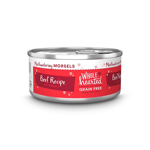 WholeHearted All Life Stages Grain-Free Beef Recipe Morsels in Gravy Wet Cat Food, 5.5 oz., Case of 12 - Carousel image #1