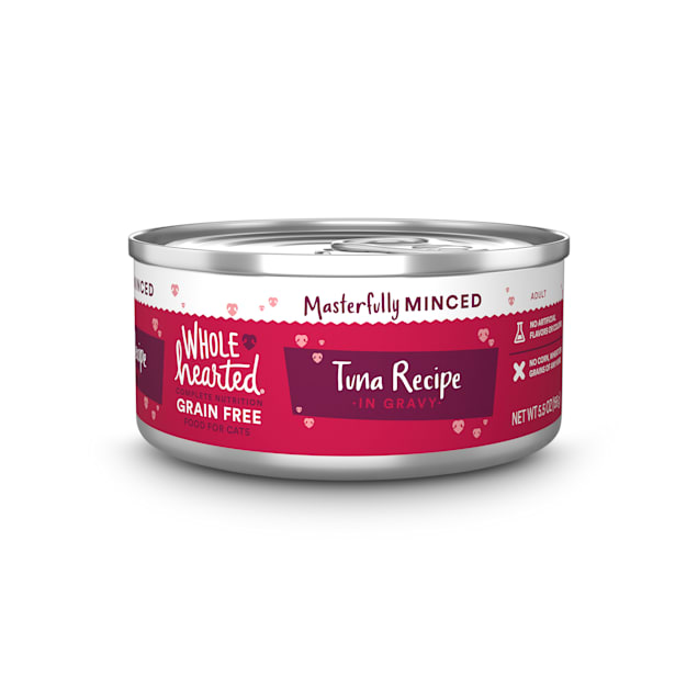 WholeHearted All Life Stages Grain-Free Tuna Recipe Minced in Gravy Wet Cat Food, 5.5 oz., Case of 12 - Carousel image #1