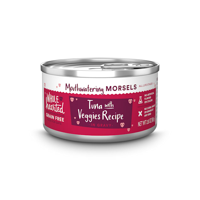 WholeHearted All Life Stages Grain-Free Tuna with Veggies Recipe Morsels in Gravy Wet Cat Food, 2.8 oz. - Carousel image #1