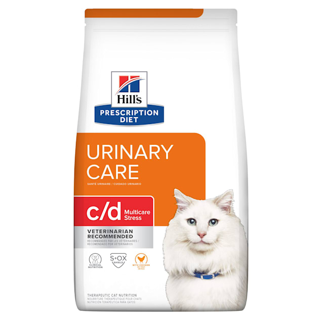 Hill's Prescription Diet c/d Multicare Urinary Stress with Chicken Dry Cat Food, 17.6 lbs. - Carousel image #1
