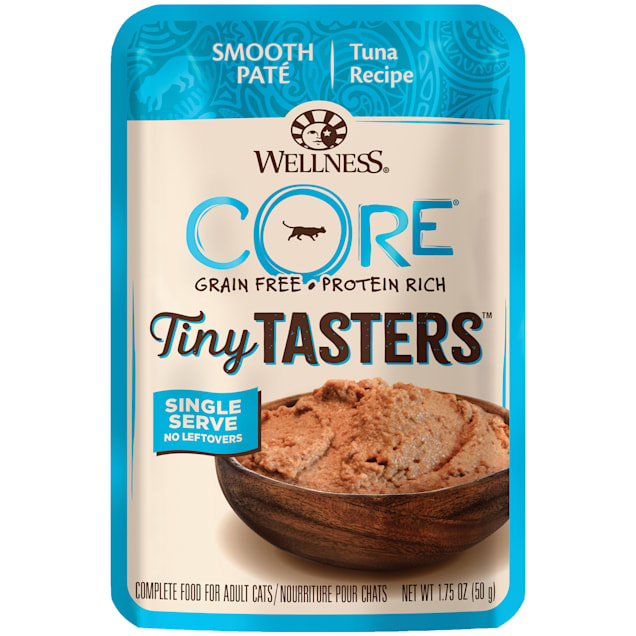 Wellness CORE Tiny Tasters Tuna Pate Grain Free Wet Cat Food, 1.75 oz., Case of 12 - Carousel image #1