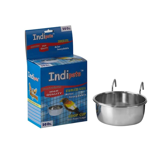 Indipets Stainless Steel Cage Cup with Hook Holder, 20 oz. - Carousel image #1