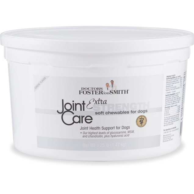Drs. Foster and Smith Extra Strength Joint Care Soft Chews for Dogs, 3.25 lbs. - Carousel image #1