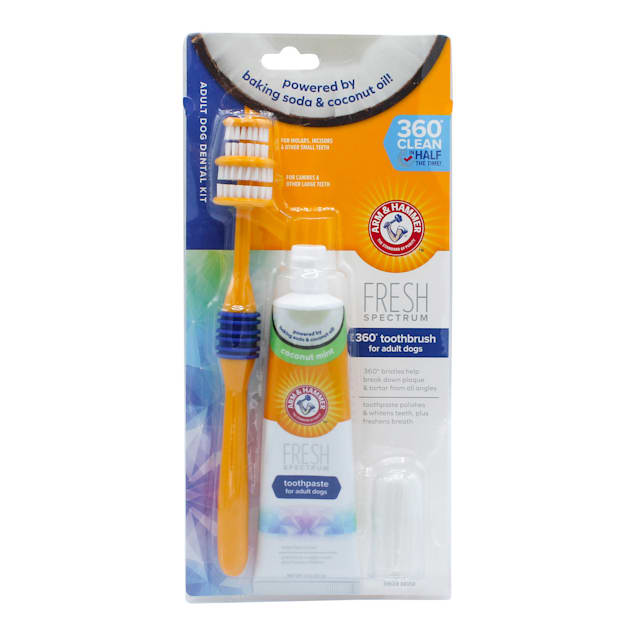 Arm & Hammer Fresh Spectrum 360 Adult Dog Dental Kit, 3 oz. - Carousel image #1