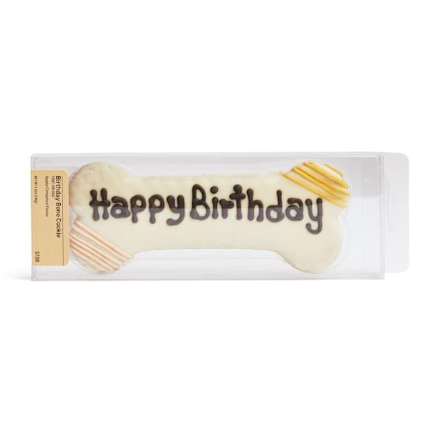 Happy Happenings Happy Birthday Bone Dog Cookie, 4.9 oz. - Carousel image #1