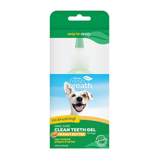 TropiClean Fresh Breath Peanut Butter Oral Care Clean Teeth Gel for Dogs, 4 fl. oz. - Carousel image #1