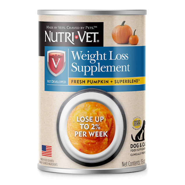 Nutri-Vet Weight Loss Pumpkin Supplements For Dogs, 15 oz. - Carousel image #1