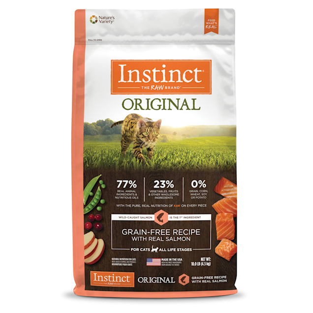 Instinct Original Grain-Free Recipe with Real Salmon Freeze-Dried Raw Coated Dry Cat Food, 10 lbs. - Carousel image #1