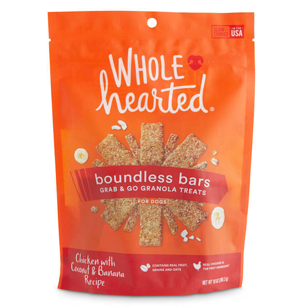 WholeHearted Boundless Bars Chicken with Coconut & Banana Grab & Go Dog Treats, 10 oz. - Carousel image #1