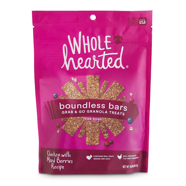 WholeHearted Boundless Bars Chicken with Mixed Berries Grab & Go Dog Treats, 10 oz. - Carousel image #1