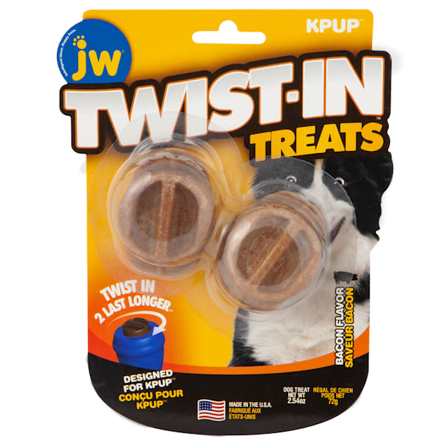 JW Pet Twist in Treat Bacon Flavor Chew Dog Toy, 2.54 OZ - Carousel image #1