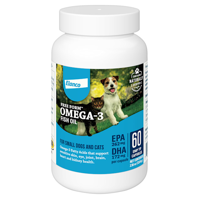 Bayer Free Form Snip Tips Omega-3 Supplement for Small Dogs and Cats, Count of 60 - Carousel image #1