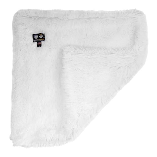 "Bessie and Barnie Ultra Plush Snow White Luxury Shag Pet Blanket, 24"" L X 24"" W X 1"" H - Carousel image #1"