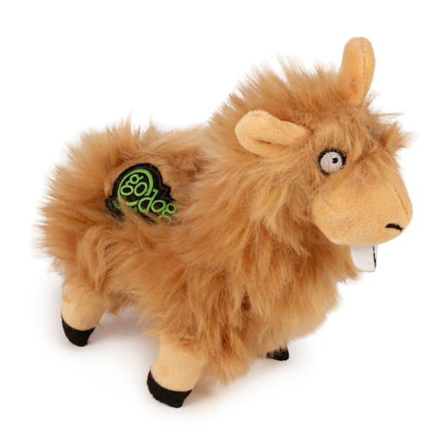 goDog Tan Buck Tooth Llama Dog Toy, Small - Carousel image #1